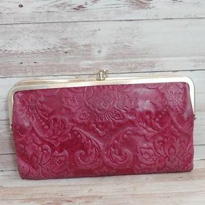Hobo embossed ruby vintage hide Lauren wallet